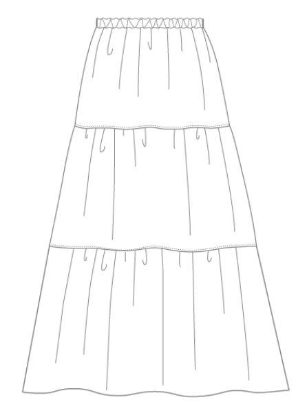 画像1: ティアードスカートWHITE (1)